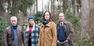 Das Ermittlerteam: Matthias Hamm (Ralph Herforth), Alwa Sörensen (Lisa Werlinder), Jana Winter (Natalia Wörner) und Arne Brauner (Martin Brambach), v.l.n.r. (Foto: ZDF/Manju Sawhney)