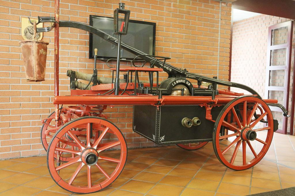 Historischer Spritzenwagen, Feuerwehr Landau (Foto: ebl)