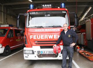Ehrenamtlich als Stadtfeuerwehrinspekteur tätig: Dirk Hargesheimer, Freiwillige Feuerwehr Landau. (Foto: ebl)